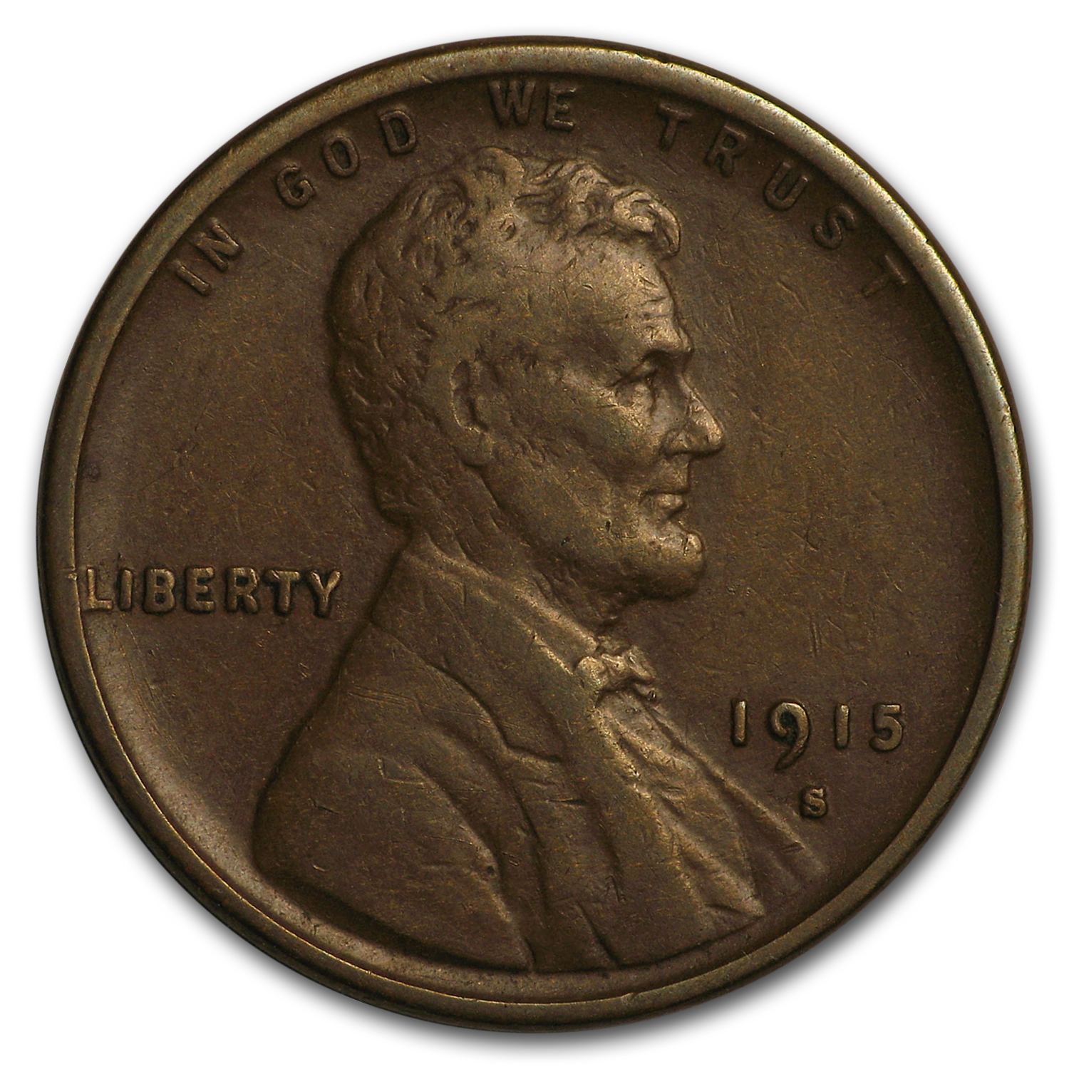1915-S Lincoln Cent VF