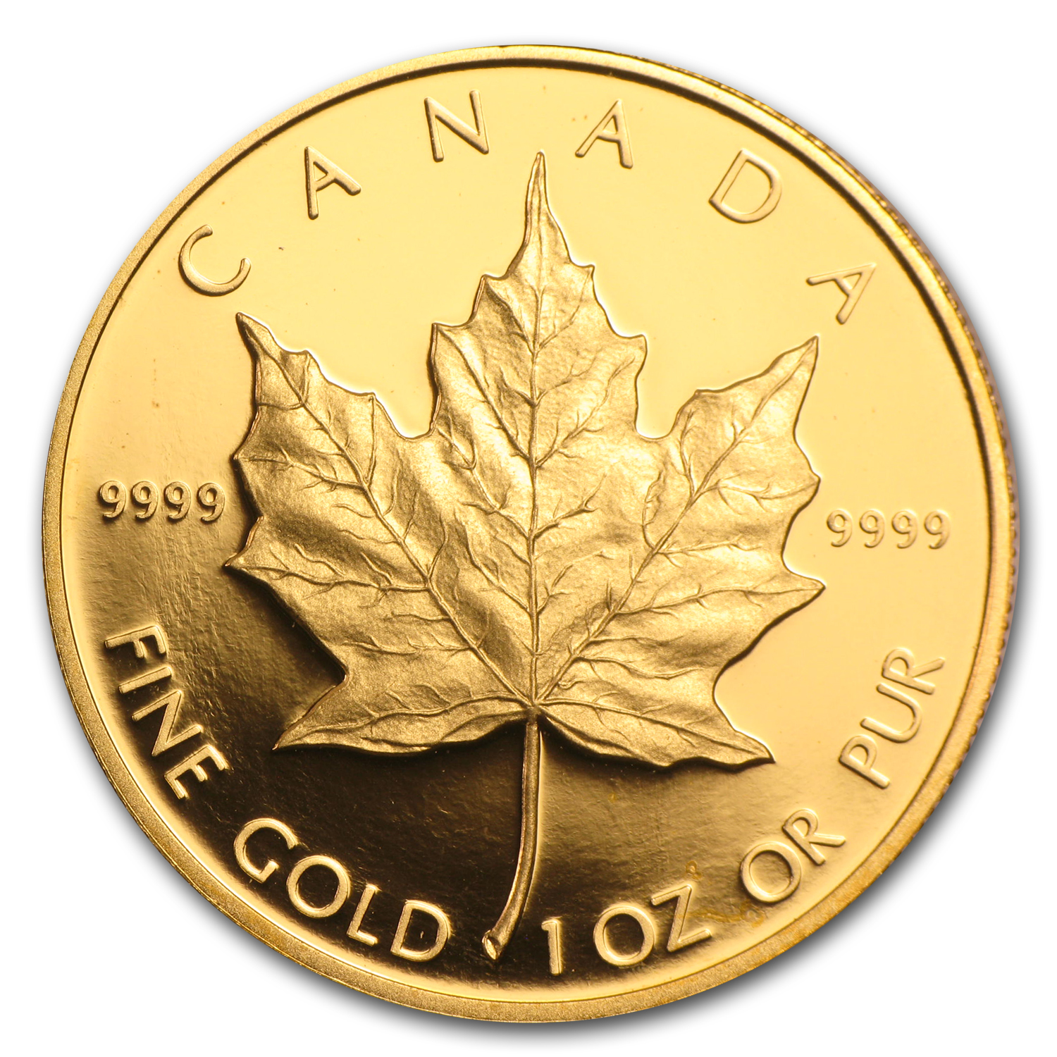 1989 1 oz Proof Gold Canadian Maple Leaf (W/Box & Coa)