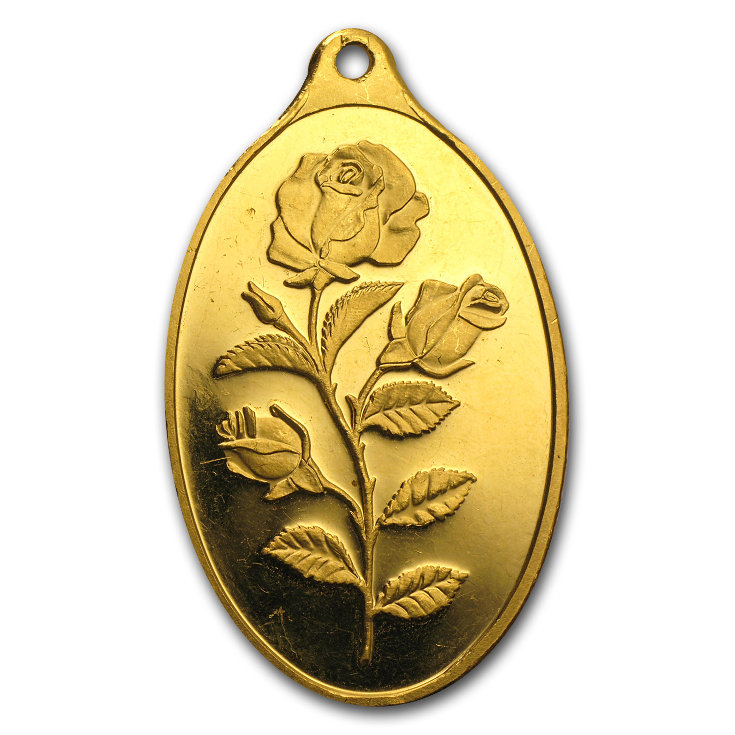 1 oz Gold Oval - PAMP Suisse Rose (Light Abrasions)