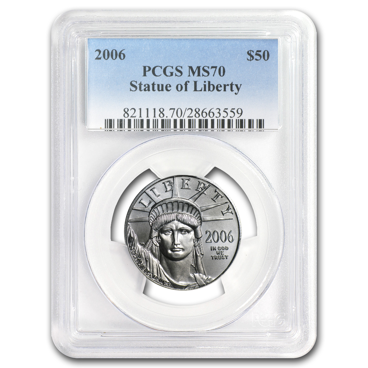 2006 1/2 oz Platinum American Eagle MS-70 PCGS