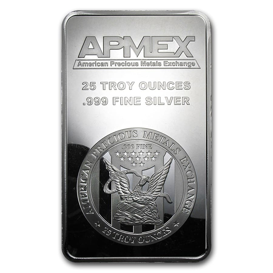 25 oz Silver Bar - Secondary Market