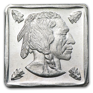 1/4 oz Silver Square - Buffalo Nickel (Obverse)