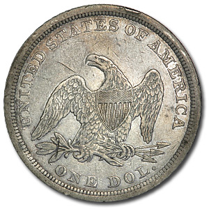 1843 Liberty Seated Dollar Extra Fine