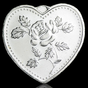 1/2 oz Silver Heart - Especially For You (Rose)