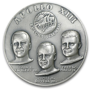 4.41 oz Silver Round - APOLLO 13