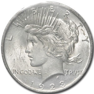 1923 Peace Dollar - MS-62 - GSA Soft Pack