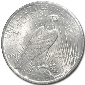 1923 Peace Dollar Peace Dollar MS-62 (GSA Soft Pack)