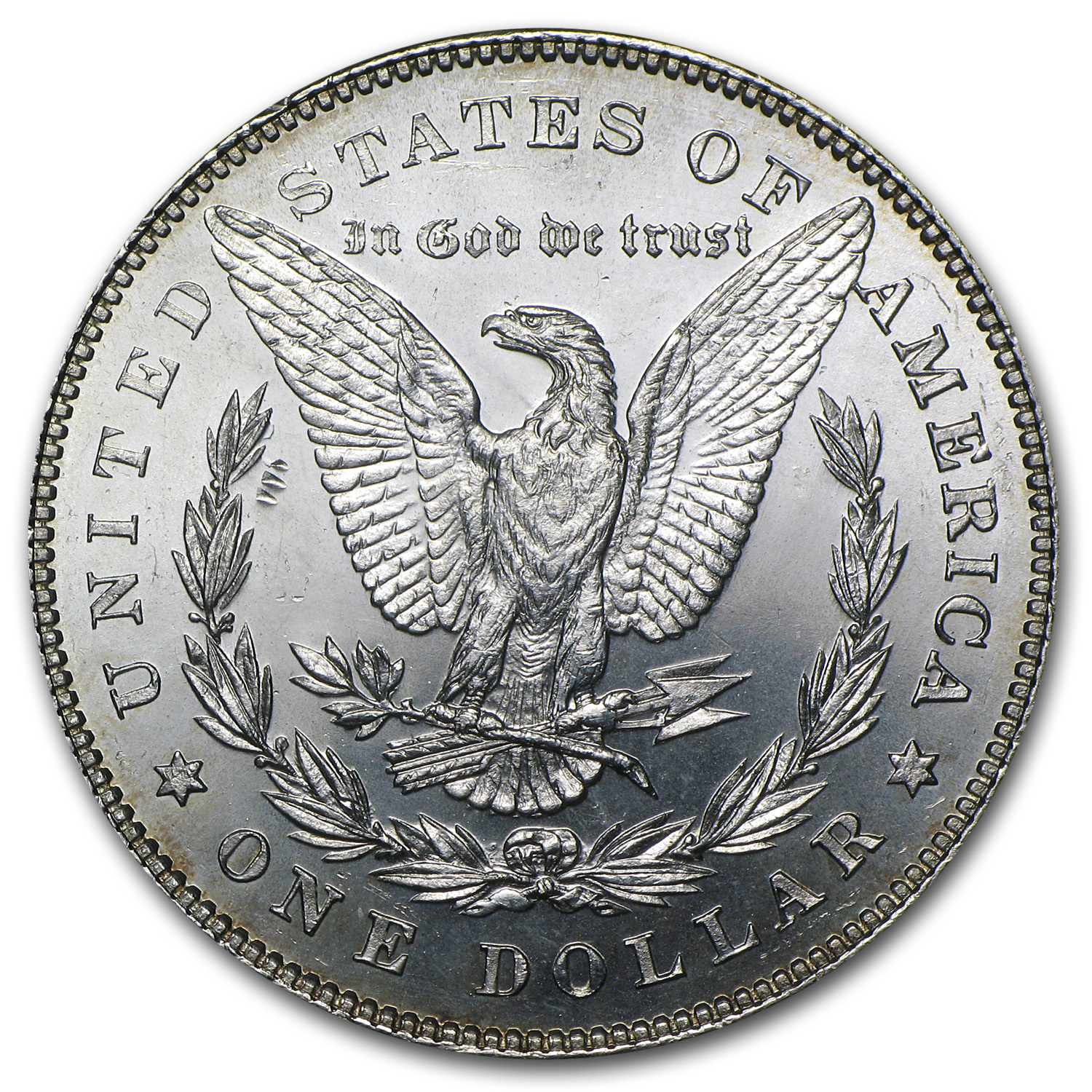 1878 Morgan Dollar - 7/8 Tailfeathers - Brilliant Uncirculated