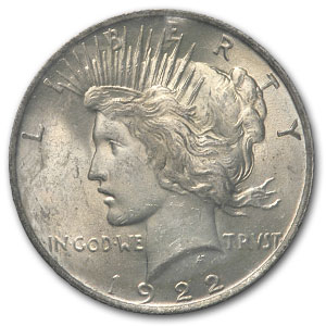 1922 Peace Dollar MS-64 NGC - GSA Certified Soft Pack