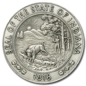 4.425 oz Silver Round - Indiana Sesquicentennial