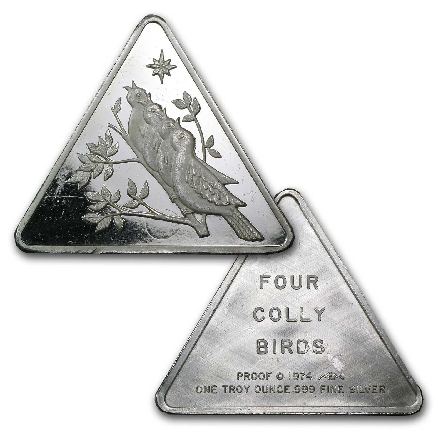 1 oz Silver Triangle - .999 Fine (Light Abrasions)