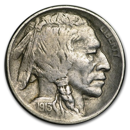 1913 S Type Ii Buffalo Nickel Vf Buffalo Nickels 1913