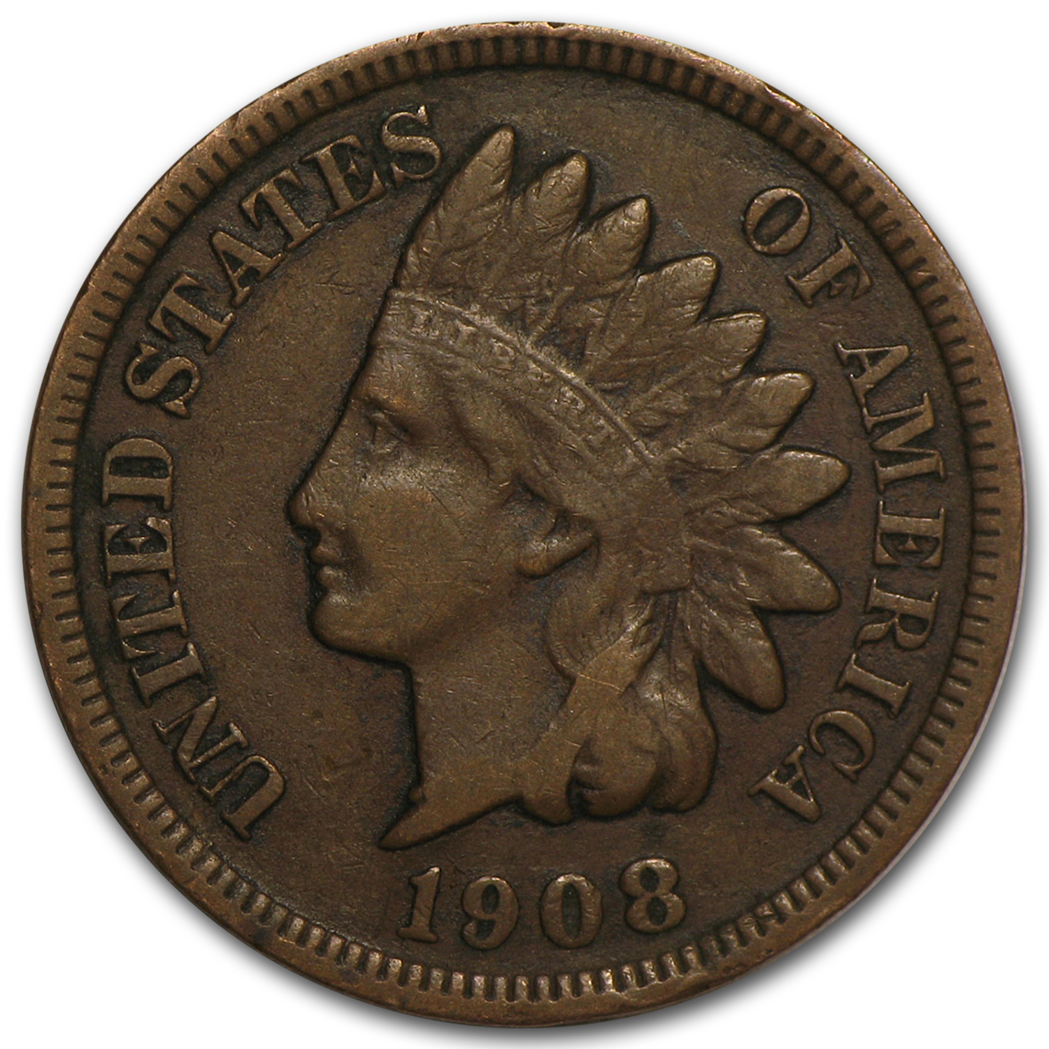 1908 S Indian Head Cent Vf Indian Head Cents 1859