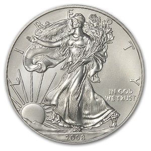 2008-W (Burnished) Silver American Eagle (Rev '07)