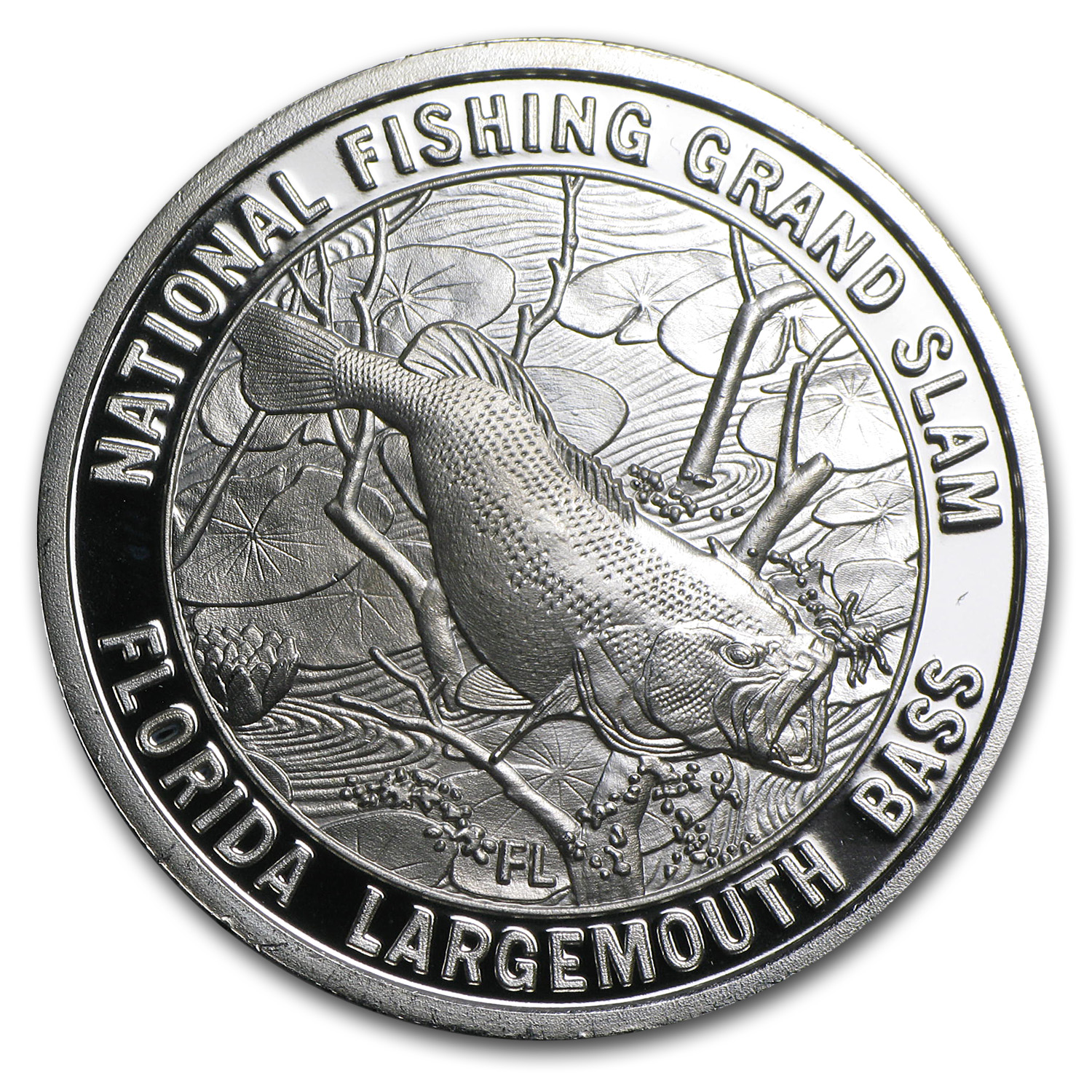 1 oz Silver Round - North American Hunting/Fishing Club