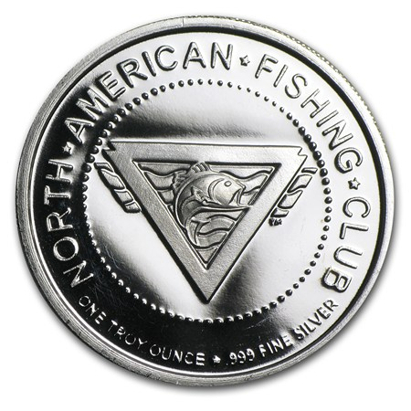 1 oz silver round north american hunting fishing club for North american fishing club