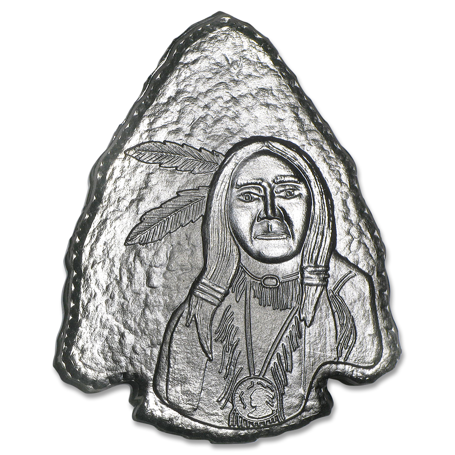 1 oz Silver Arrowheads - Indian Warrior