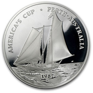 5 oz Silver Round - Samoa America's Cup Medal