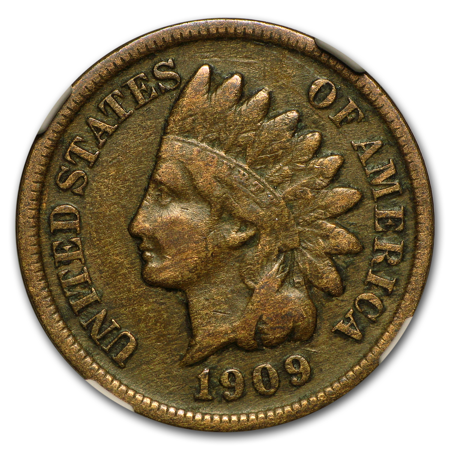 1909-S Indian Head Cent VF-25 NGC