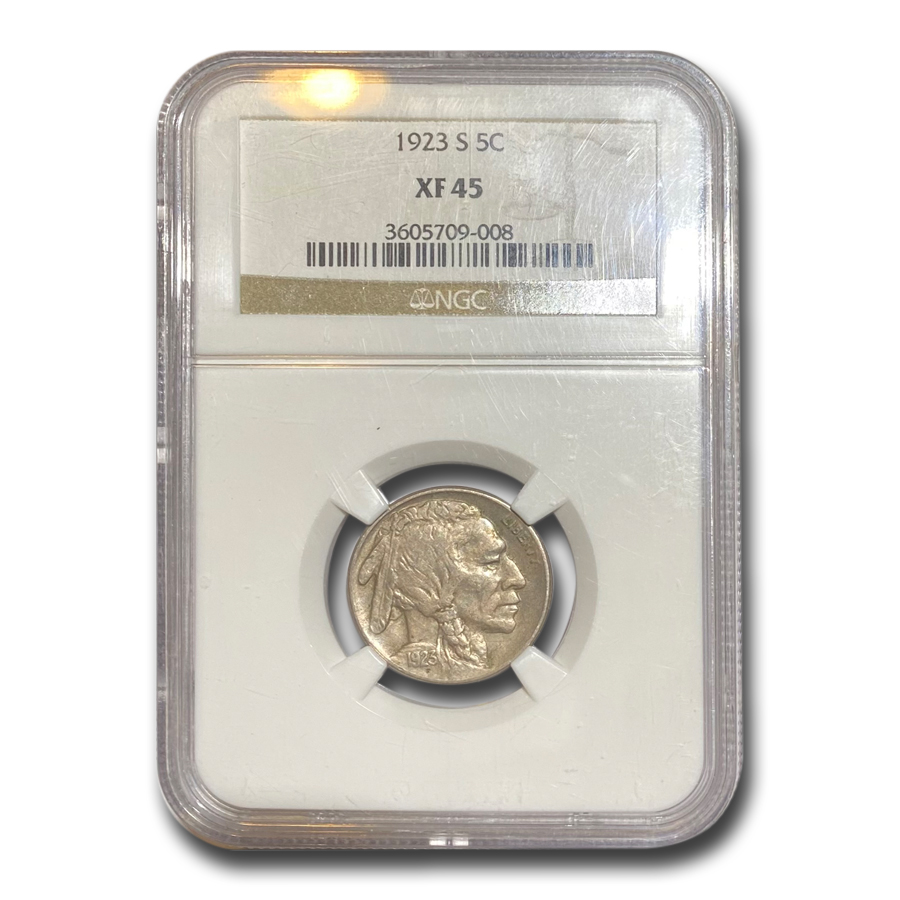 1923-S Buffalo Nickel XF-45 NGC