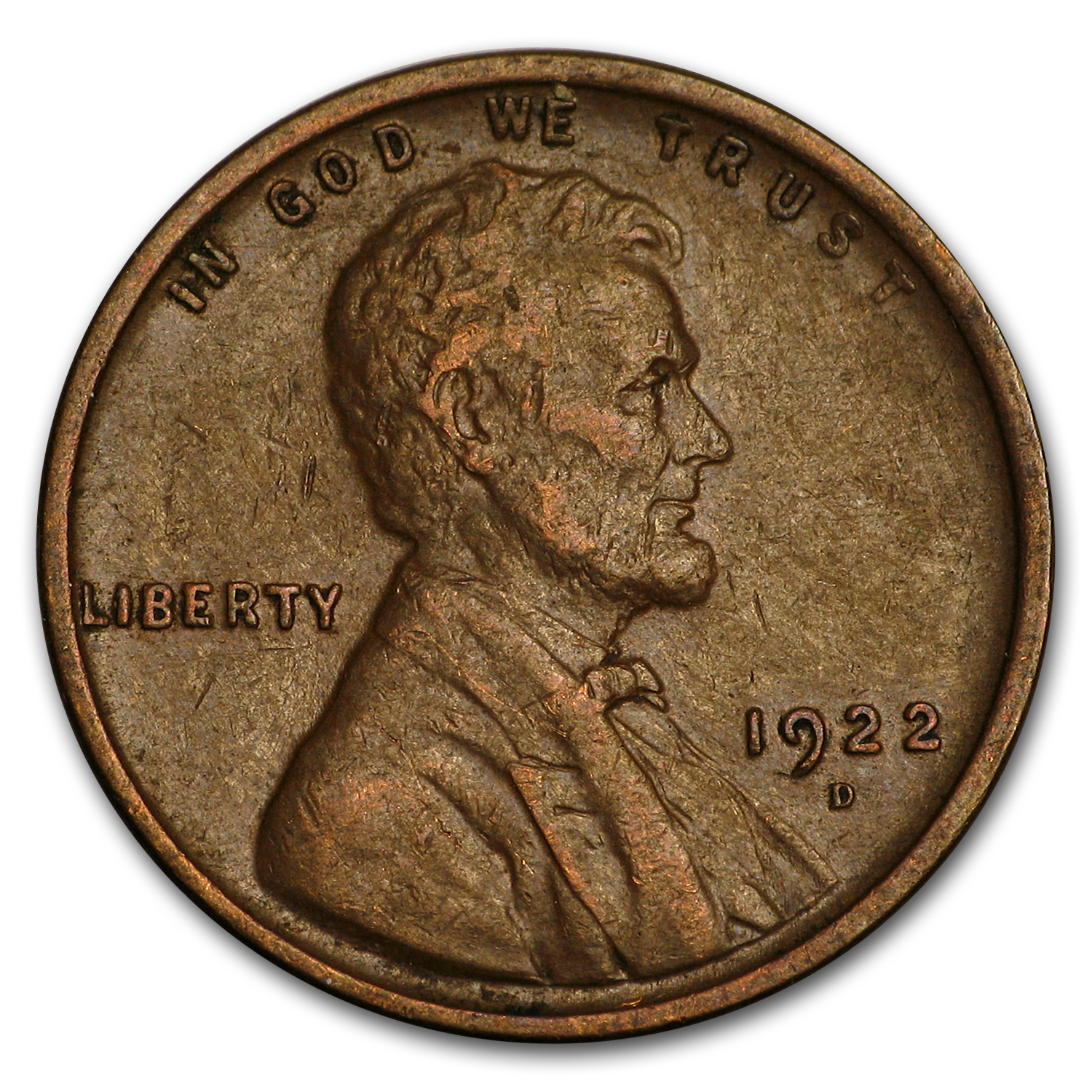 1922-D Lincoln Cent VF