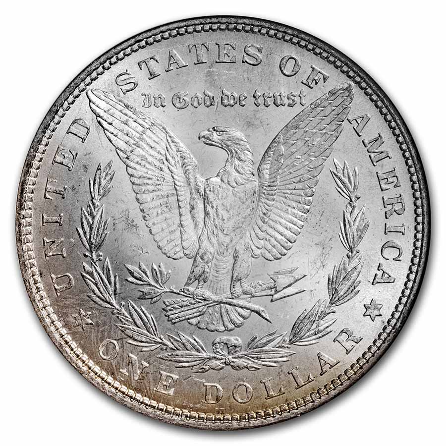 1878 Morgan Dollar - 7 Tailfeathers Rev. of 79 MS-63 NGC