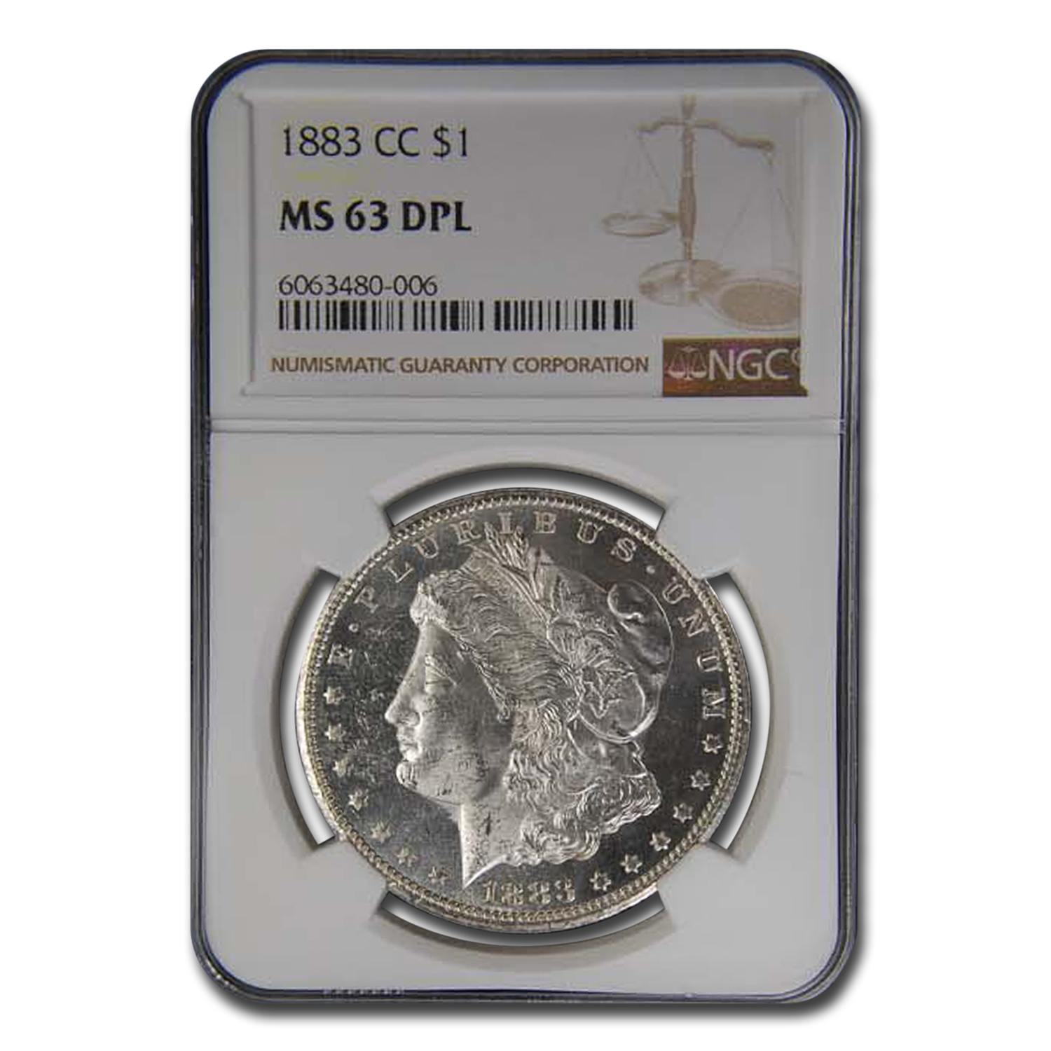 1883-CC Morgan Dollar MS-63 DPL NGC
