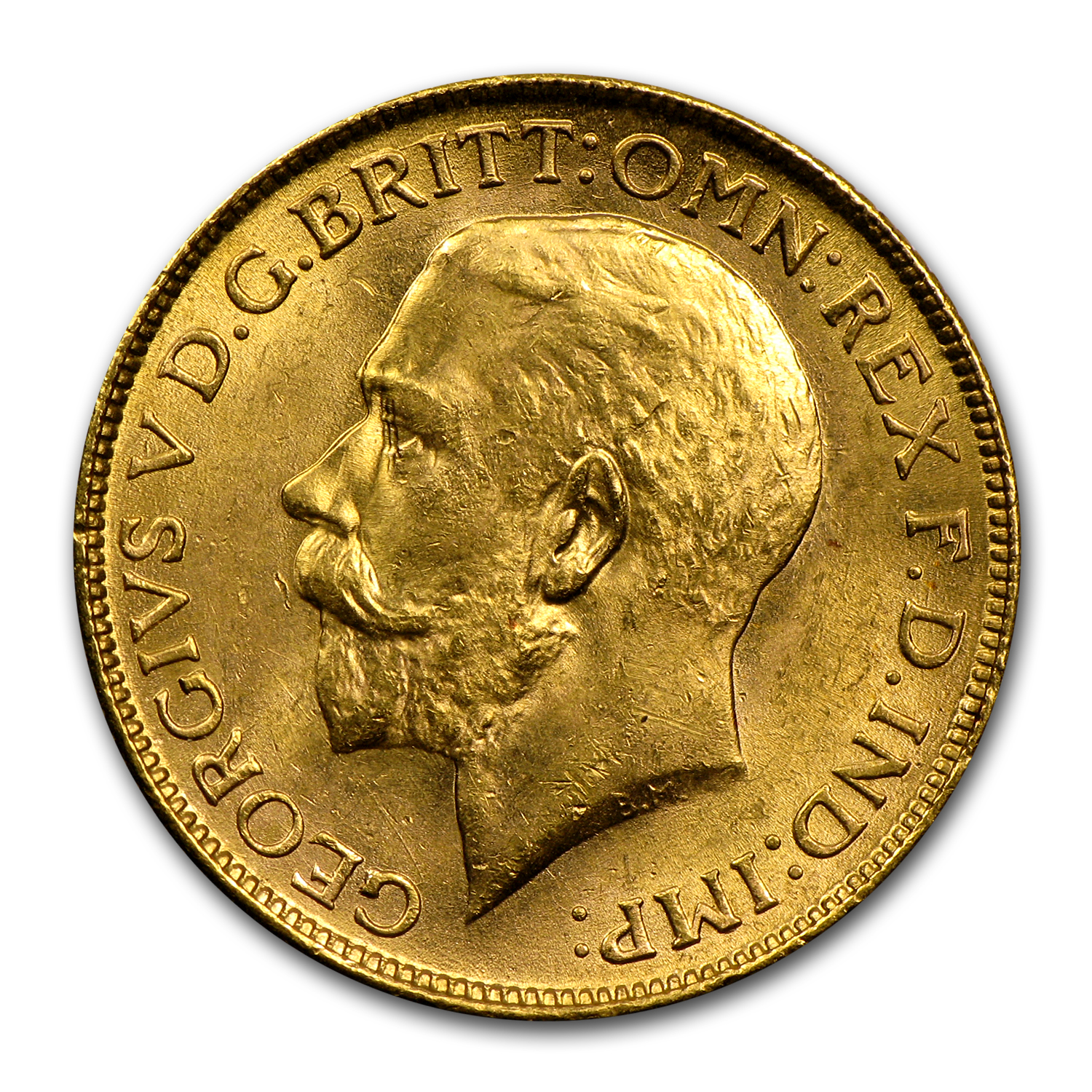 1918 India Gold Sovereign George V BU