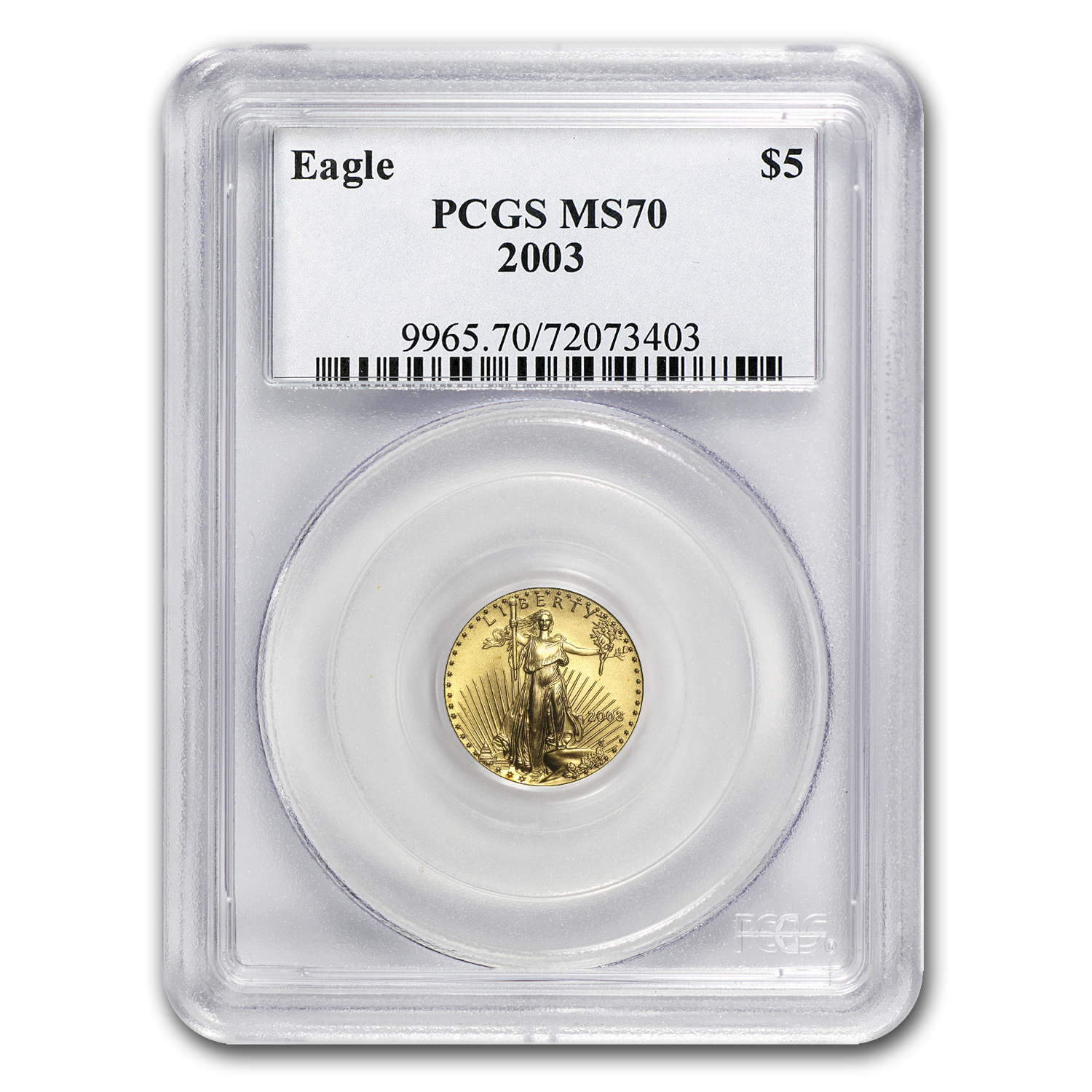 2003 1/10 oz Gold American Eagle MS-70 PCGS