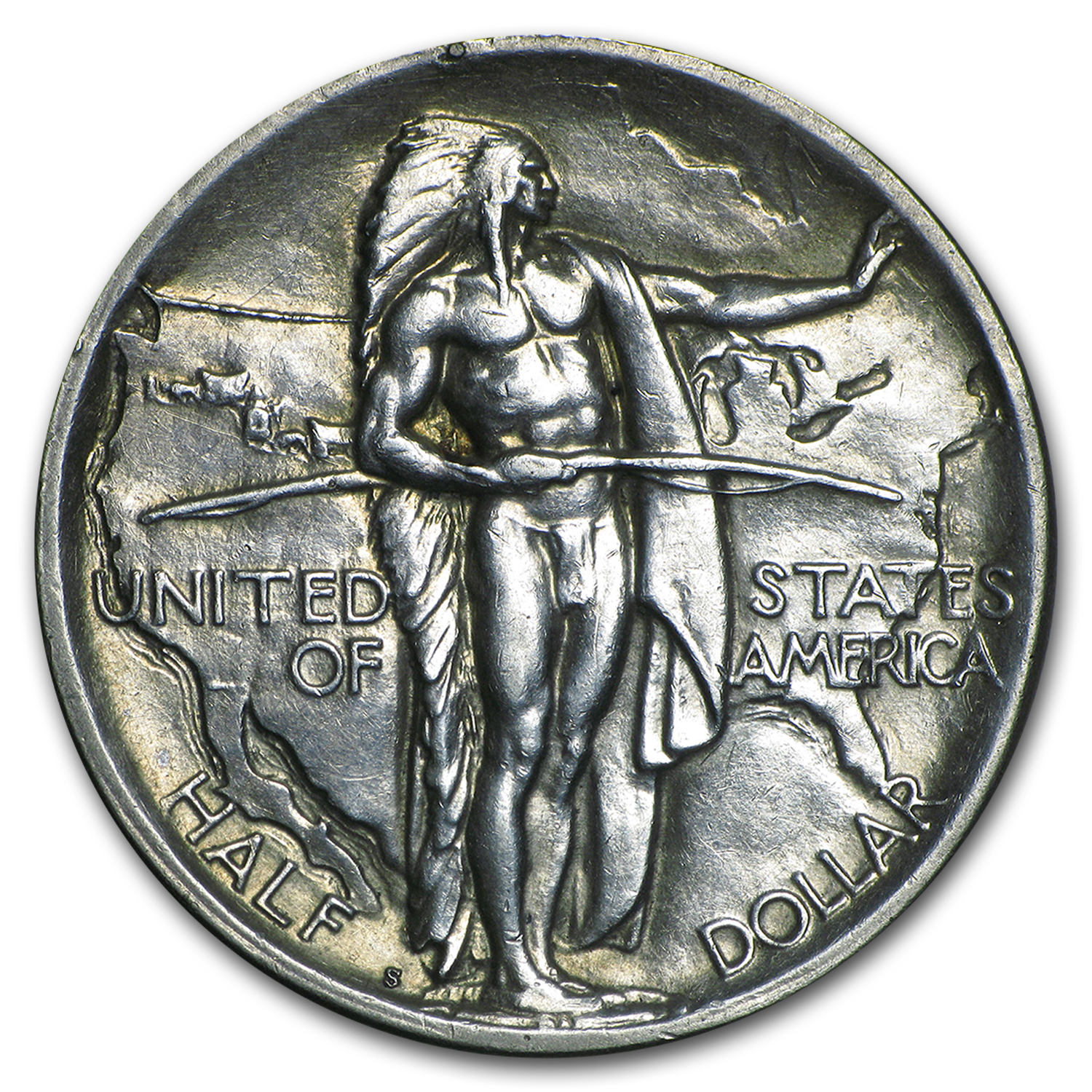 1926-S Oregon Trail Memorial Half Dollar Commem AU