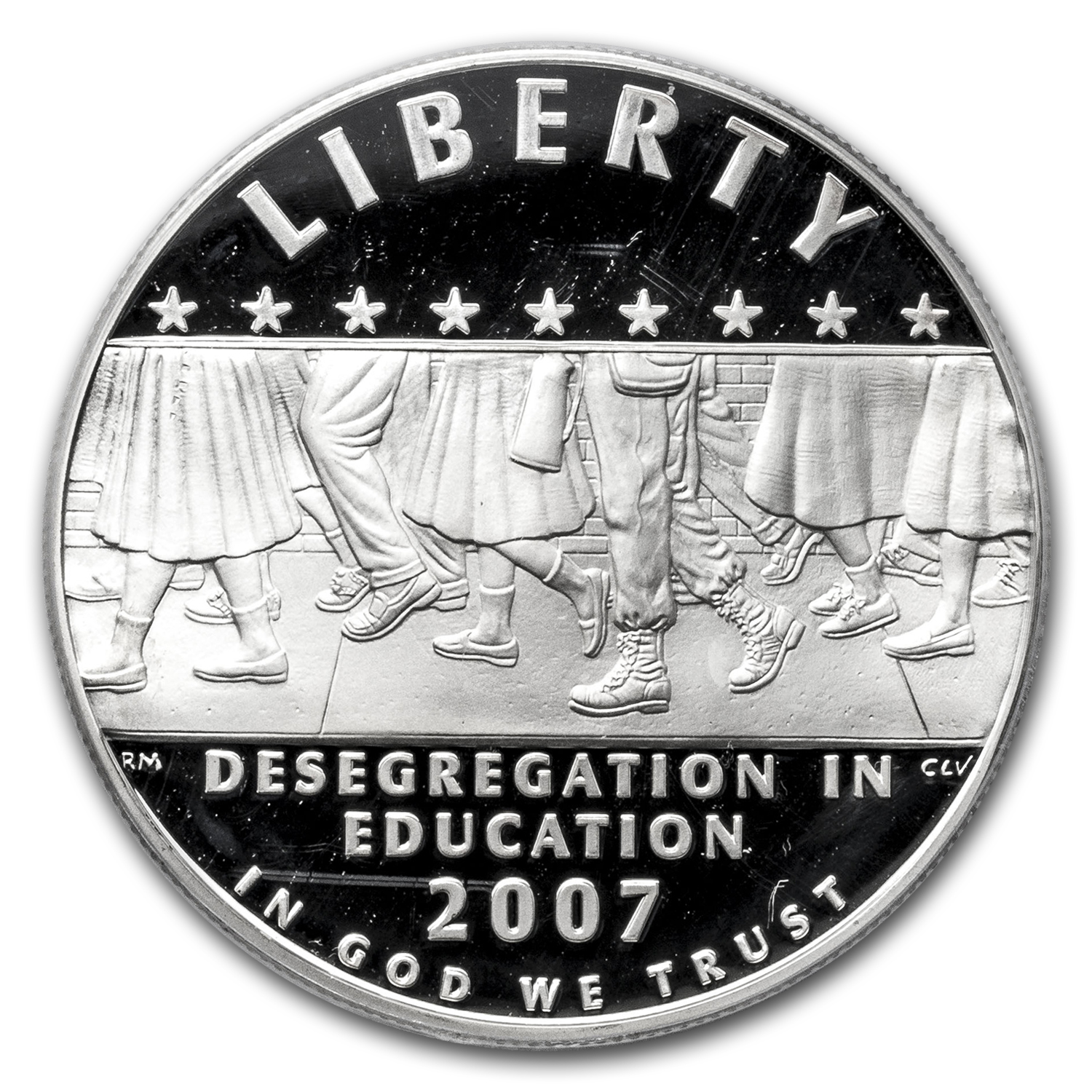 2007-P School Desegregation $1 Silver Commem PR-69 PCGS