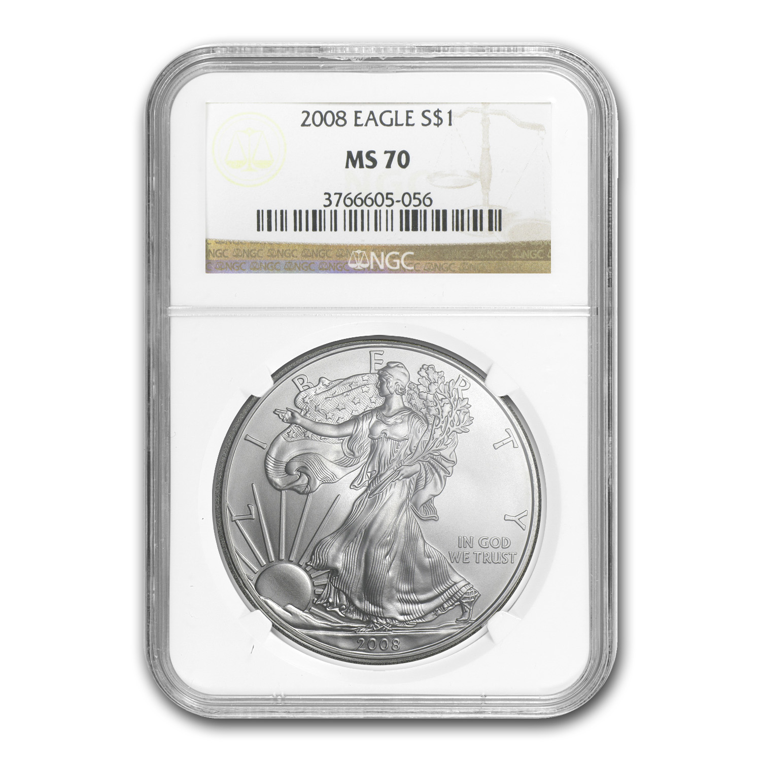 2008 Silver American Eagle MS-70 NGC
