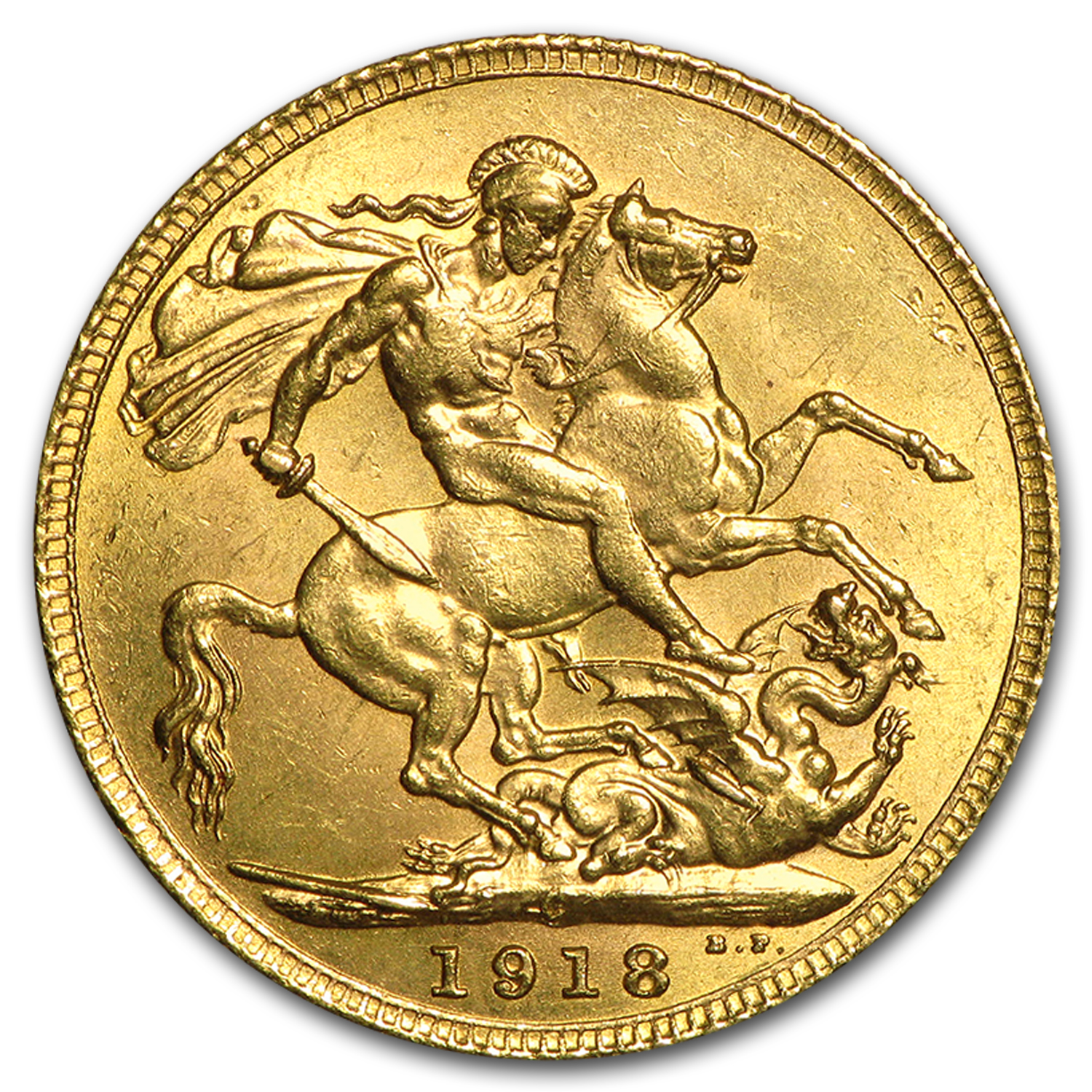 1918-C Canada Gold Sovereign AU