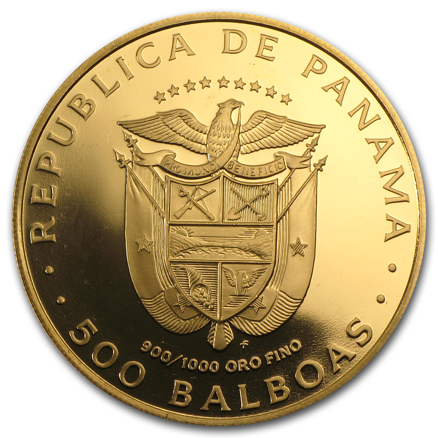 1978 Panama Proof Gold 500 Balboas American States