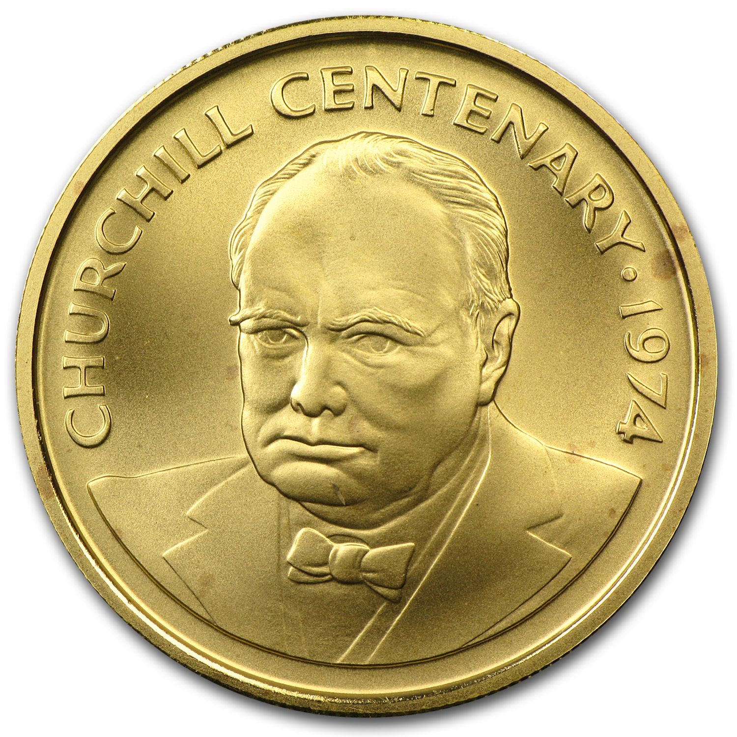 1974 Cayman Islands Gold 100 Dollars Churchill Matte Bu