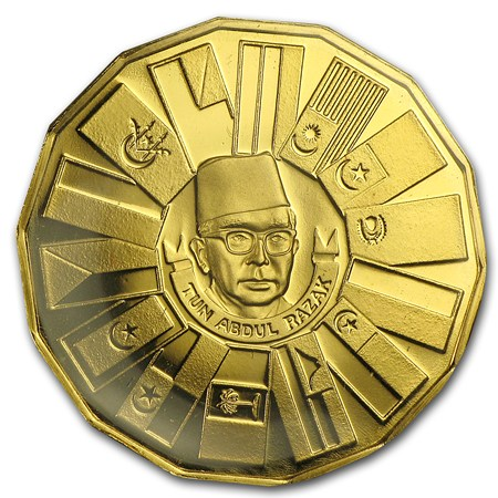 1976 Malaysia Gold 200 Ringgit Third 5 Year Plan Gold