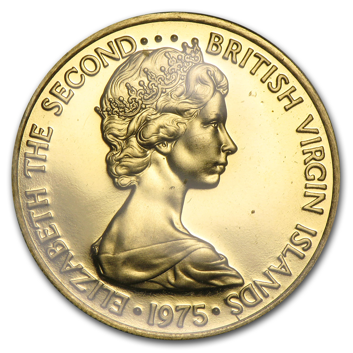 1975 British Virgin Islands Gold 100 Dollars BU/Proof