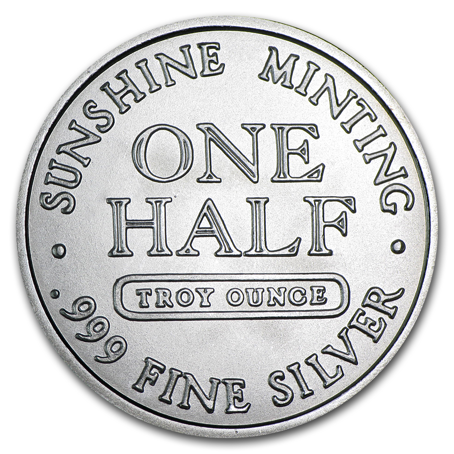 1/2 oz Silver Rounds - Sunshine Mint (Vintage Design)