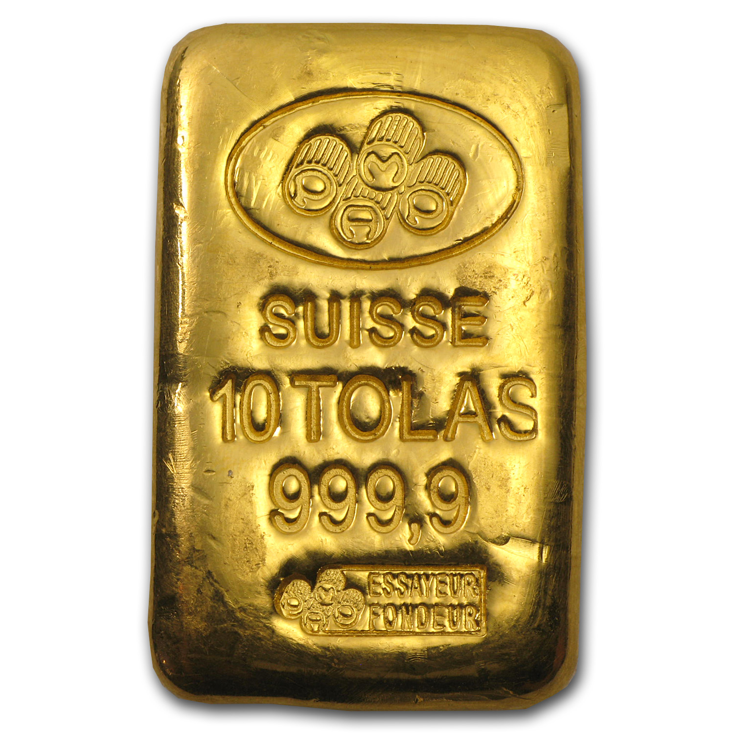 10 Tolas Gold Bar - Pamp Suisse (3.75 oz)