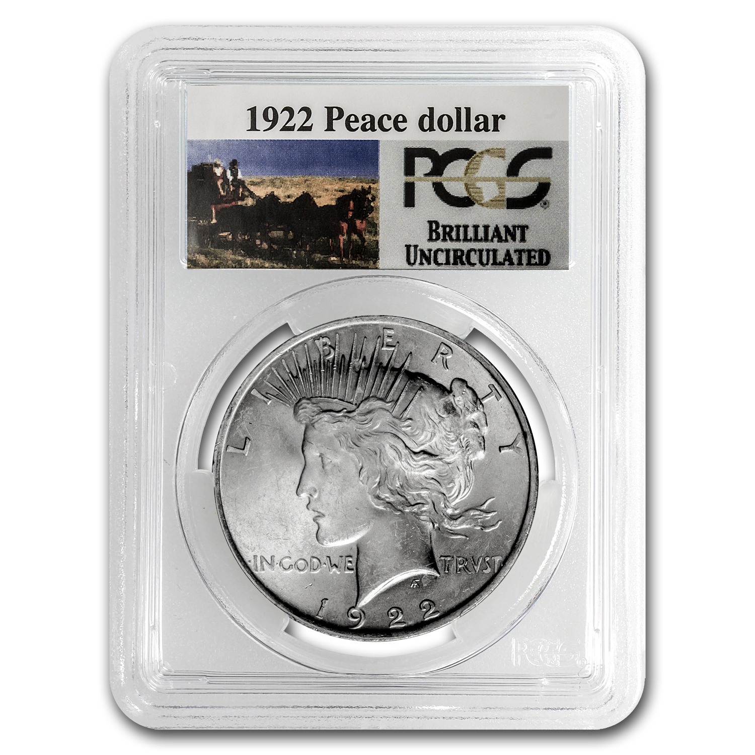 1922 Brilliant Uncirculated PCGS Stage Coach Silver Dollars