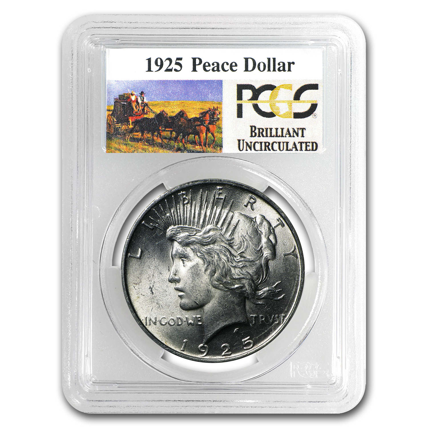 1925 Brilliant Uncirculated PCGS Stage Coach Silver Dollars
