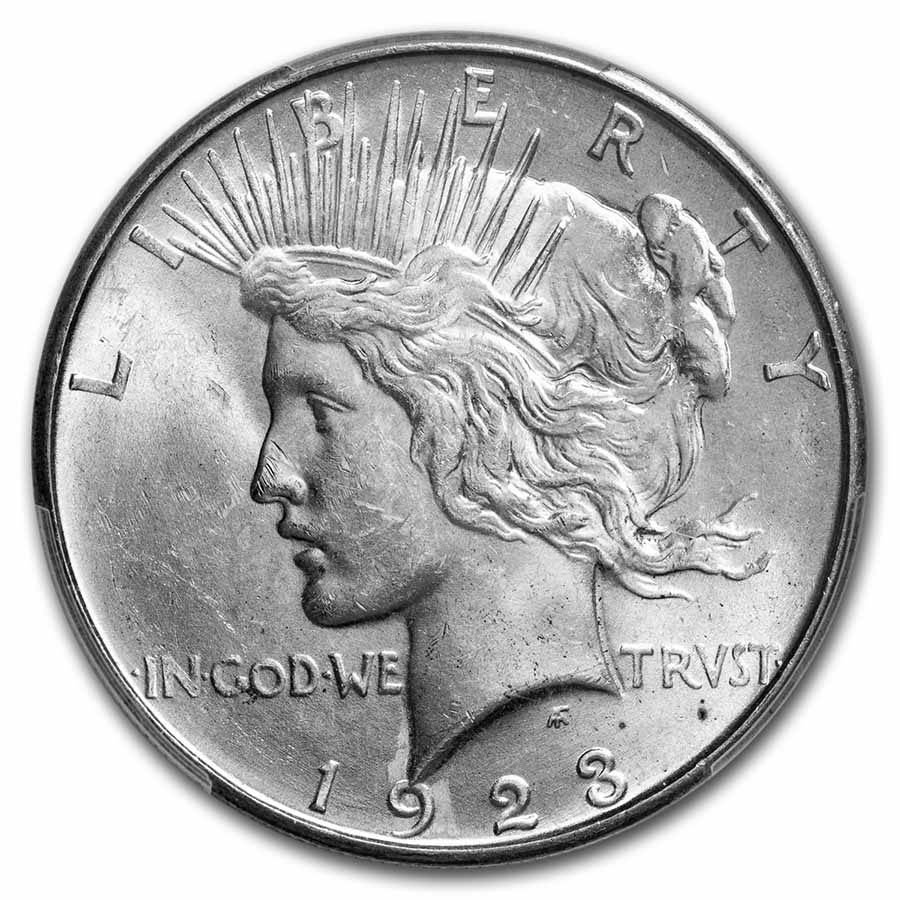 1923-D Peace Dollar MS-63 PCGS