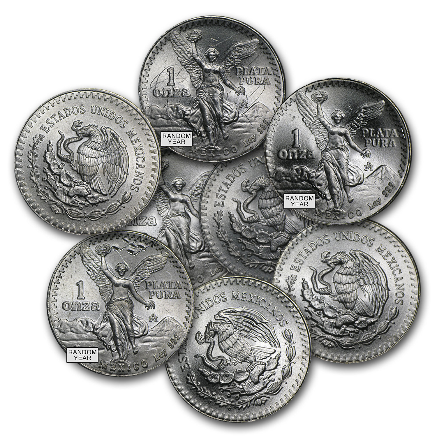 Mexico 1 oz Silver Libertad (Cull, Damaged, Milk Spotted, etc.)