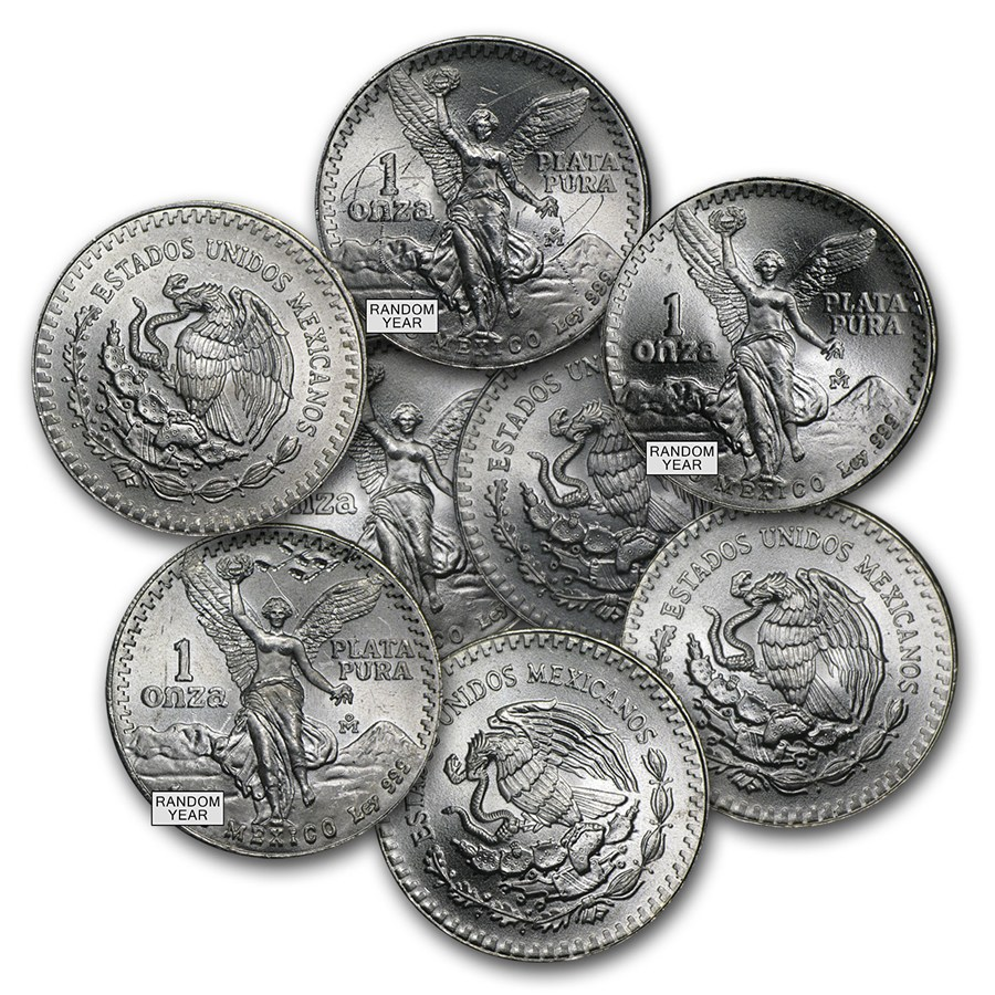 Mexico 1 Oz Silver Libertad Cull Damaged Milk Spotted