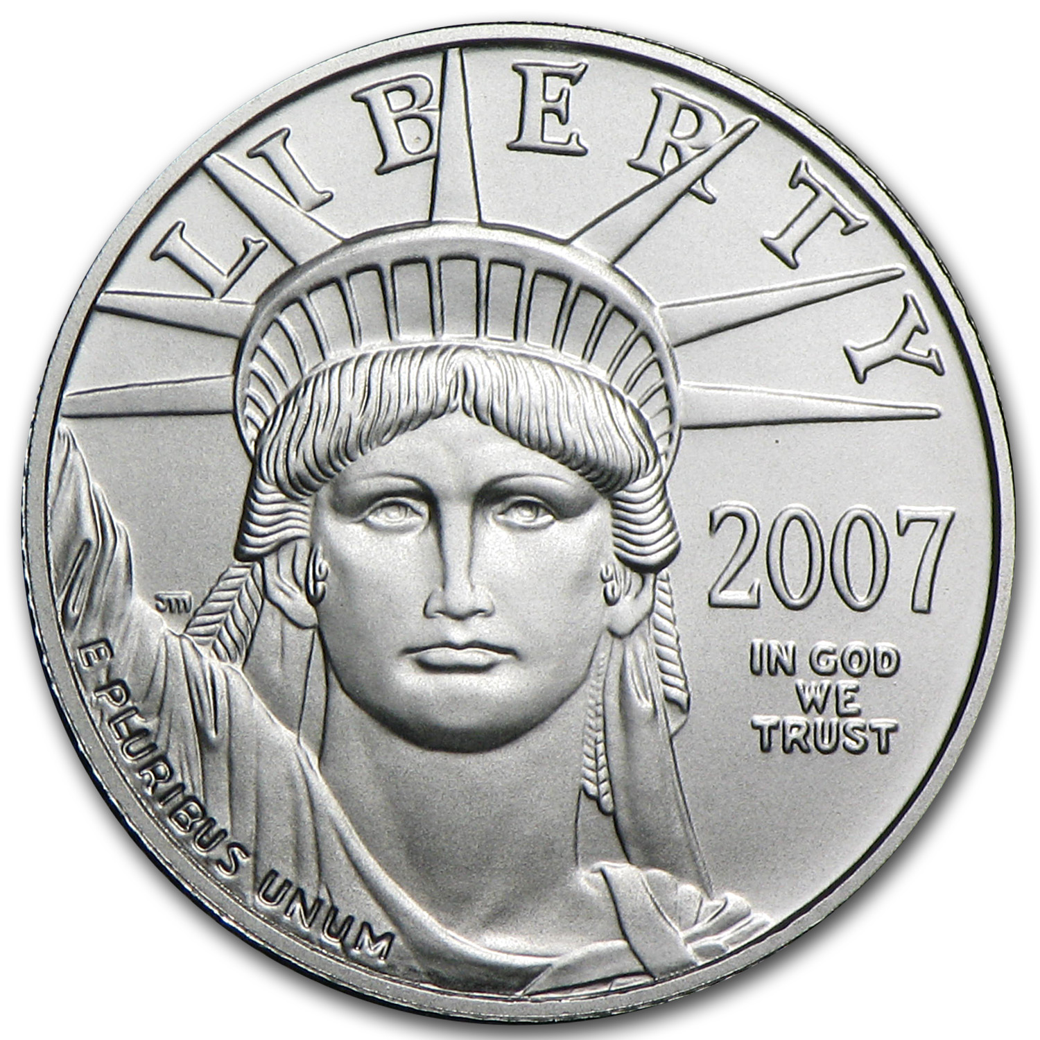 2007-W 1/10 oz Burnished Platinum American Eagle (w/Box & COA)