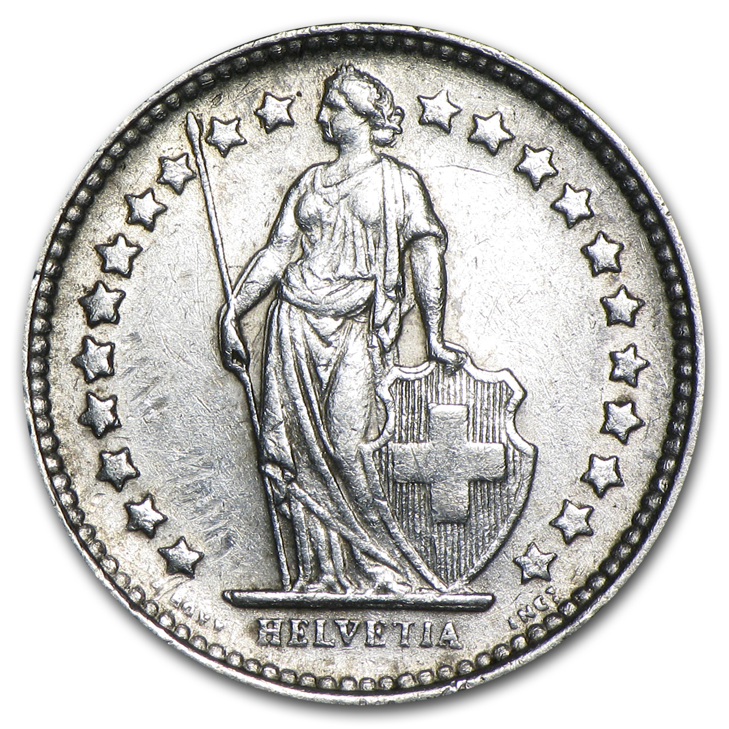 Switzerland Silver 1/2 Franc XF (Random Dates)
