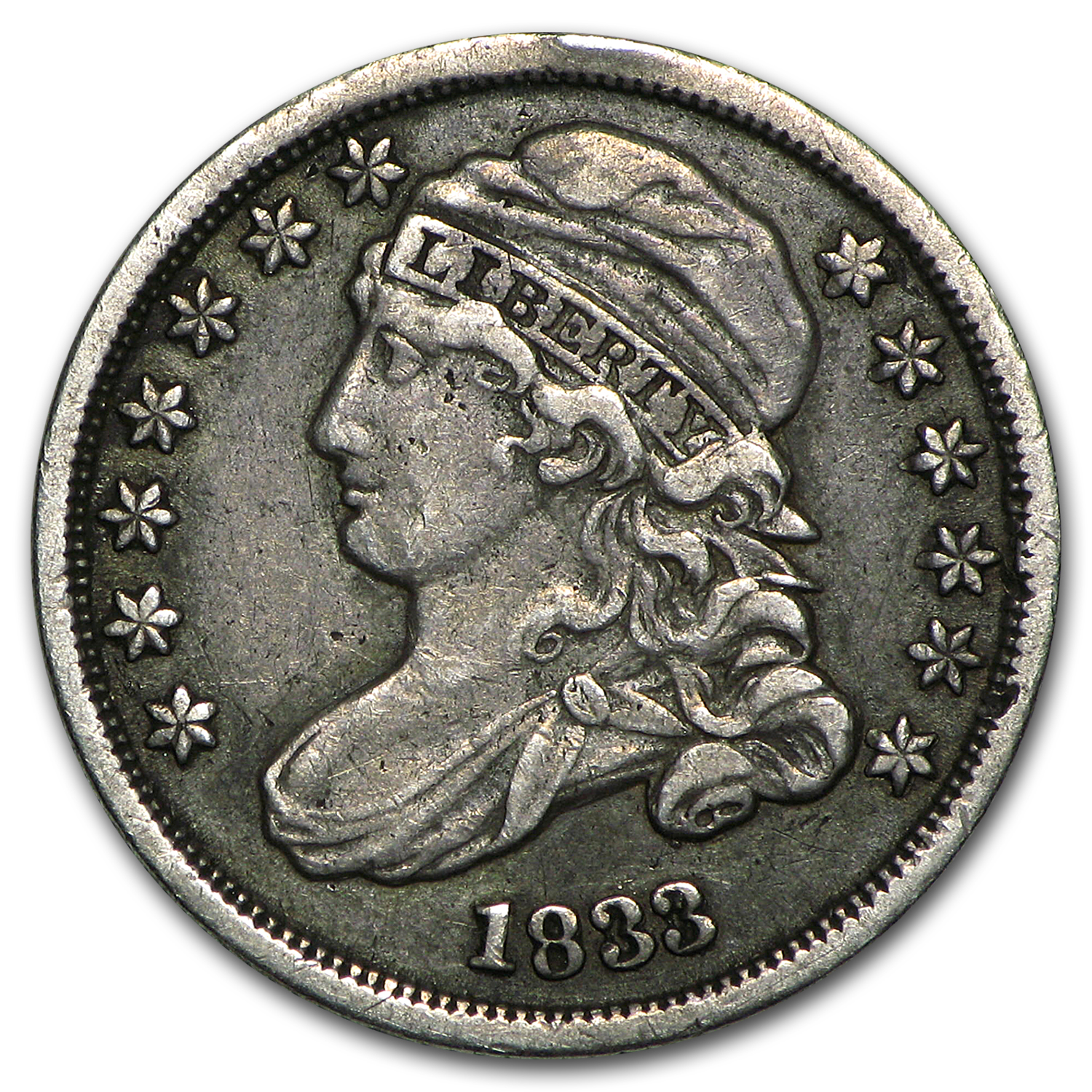 1833 Capped Bust Dime XF