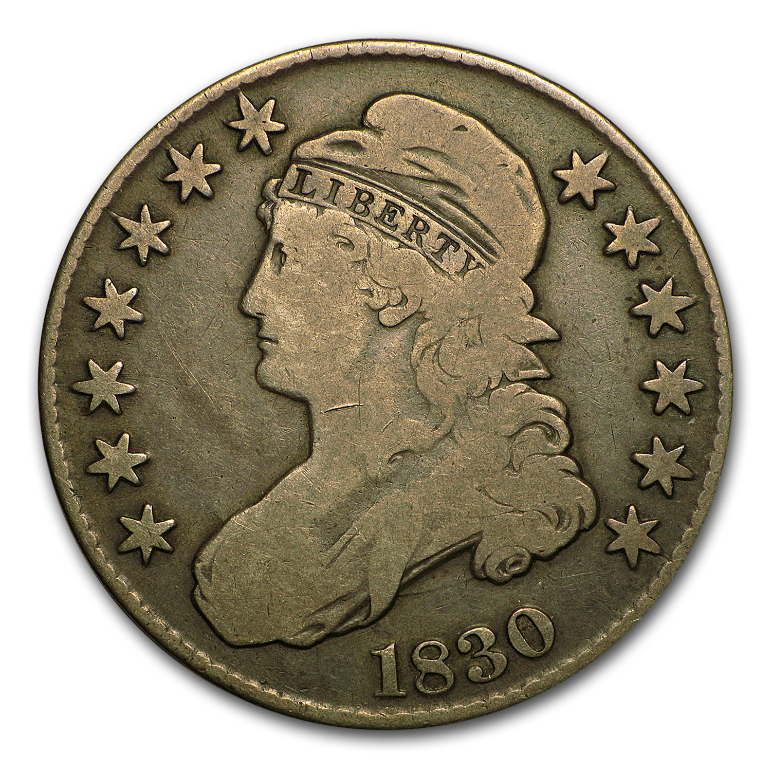 1830 Capped Bust Half Dollar VF-30