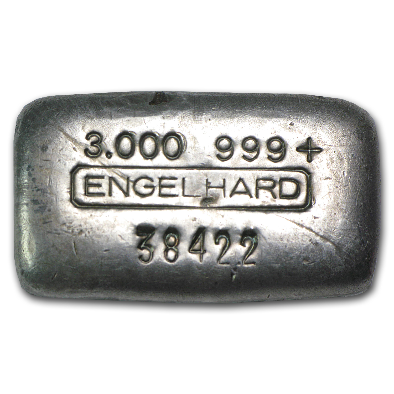 3 oz Silver Bar - Engelhard (Vintage, Poured)