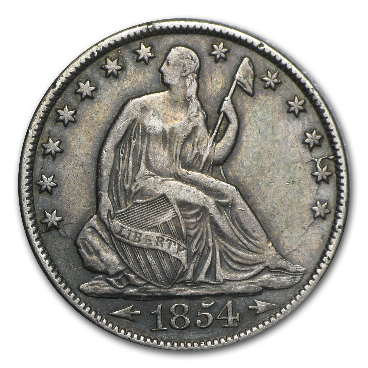 1854-O Liberty Seated Half Dollar XF